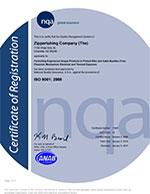 Zippertubing ISO9001 Certificate