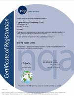 Zippertubing ISOTS Certificate